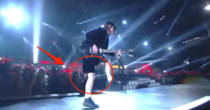Angus Young's Guitar Solo And Duck Walk At Grammys- Puts Pop Stars To Shame
