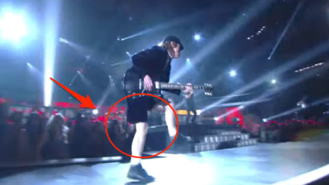 AC/DC Angus Young Guitar Solo and Duck-walk at Grammys- Puts Popstars to Shame | I Love Classic Rock Videos