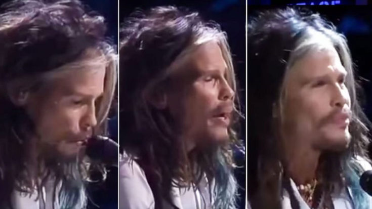 """Steven Tyler Plays """"Dream On"""", Famous Rockstar Friend Appears With Sick Solo 