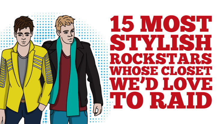 15 Most Stylish Rockstars Whose Closet We'd Love To Raid | I Love Classic Rock Videos