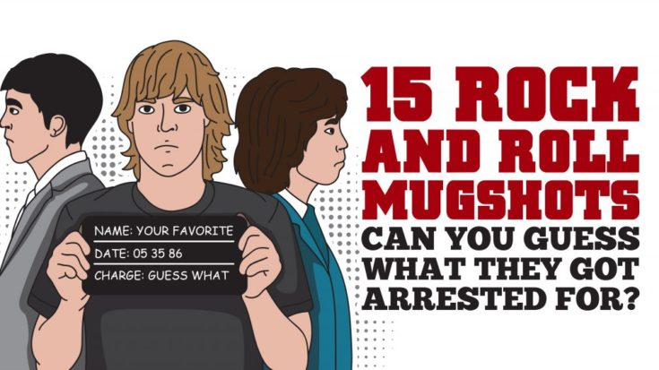 15 Rock-and-Roll Mugshots – Can You Guess What They Got Arrested For? | I Love Classic Rock Videos
