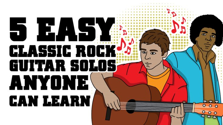 5 Easy Classic Rock Guitar Solos Anyone Can Learn | I Love Classic Rock Videos