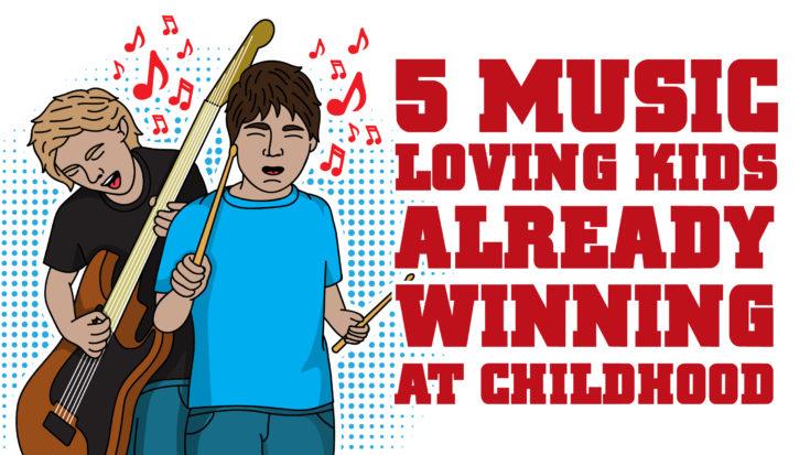 5 Music-Loving Kids Already Winning At Childhood | I Love Classic Rock Videos