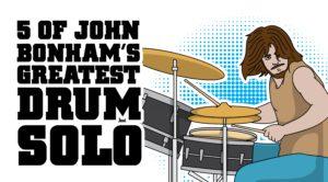 5 of John Bonham's Greatest Drum Solos