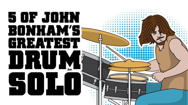 5 of John Bonham's Greatest Drum Solos | I Love Classic Rock Videos