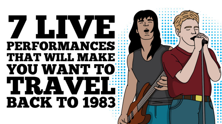 7 Live Performances That Will Make You Want To Travel Back To 1983 | I Love Classic Rock Videos