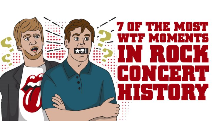 7 Of The Most WTF Moments In Rock Concert History | I Love Classic Rock Videos