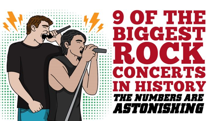 9 Of The Biggest Rock Concerts In History- The Numbers Are Astonishing | I Love Classic Rock Videos