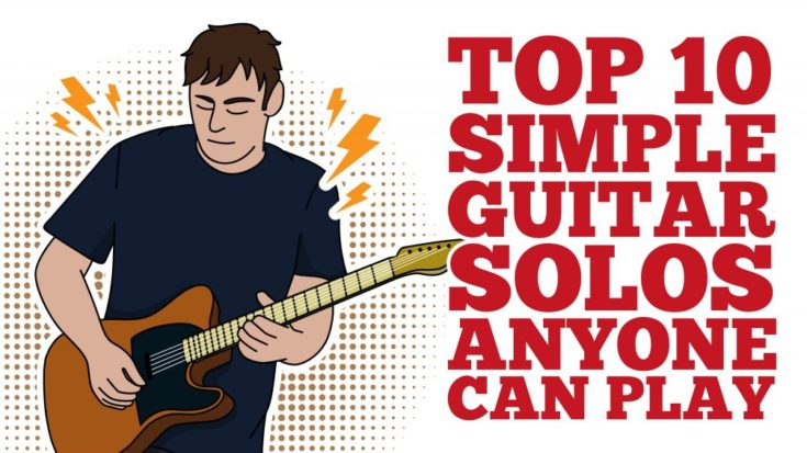 Top 10 Simple Guitar Solos Anyone Can Play- Perfect For Beginners | I Love Classic Rock Videos