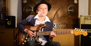 11 yr old Somehow Acquired The Blues Early – 'The Sky Is Crying' You Can Feel It