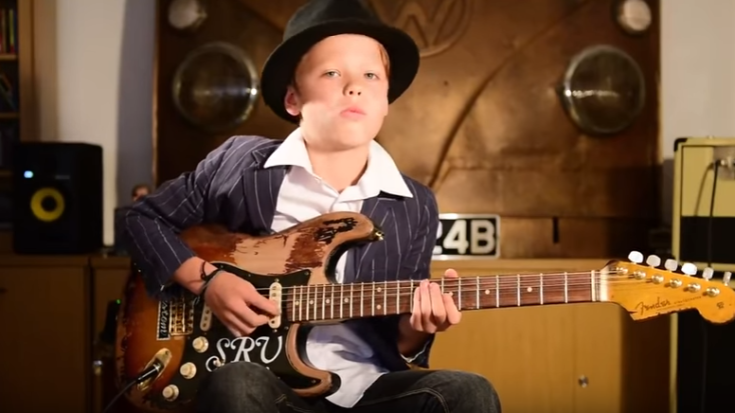 11 yr old Somehow Acquired The Blues Early – 'The Sky Is Crying' You Can Feel It | I Love Classic Rock Videos