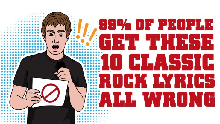 99% of People Get These 10 Classic Rock Lyrics All Wrong | I Love Classic Rock Videos