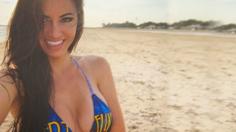 She Models Classic Rock Band Bikinis- And We're Not Complaining One Bit (MORE PHOTOS) | I Love Classic Rock Videos