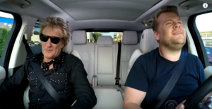 Rod Stewart Joins Carpool Karaoke And It's All Sorts of Cool