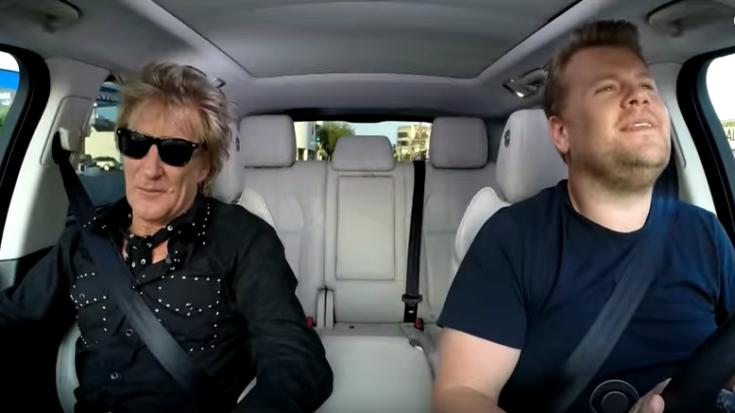 Rod Stewart Joins Carpool Karaoke And It's All Sorts of Cool | I Love Classic Rock Videos