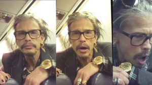 Fan Gets Lucky When She Sits Behind Steven Tyler On The Plane And He Does This