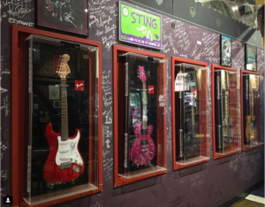 7 Restaurants That Have Legendary Rock Guitars Displayed