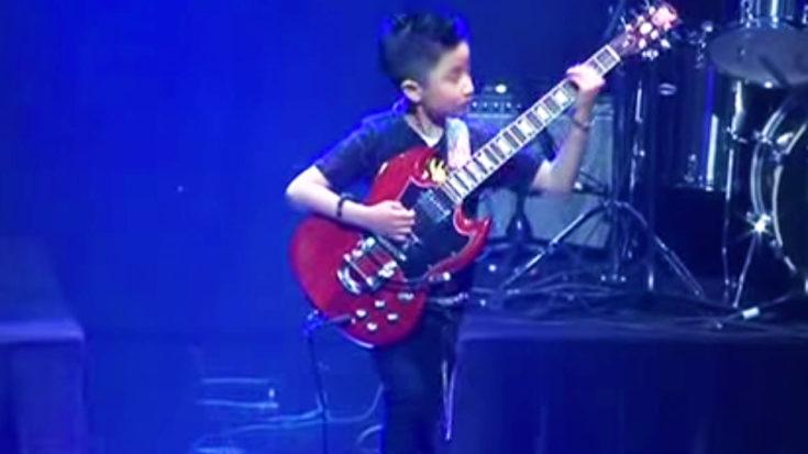 9-Year Old Shreds Medley Of Van Halen & Black Sabbath—Melts Everyone's Faces Off | I Love Classic Rock Videos