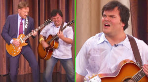 After Engaging In A Guitar Battle, Conan O'Brien & Jack Black Get The Surprise Of A Lifetime