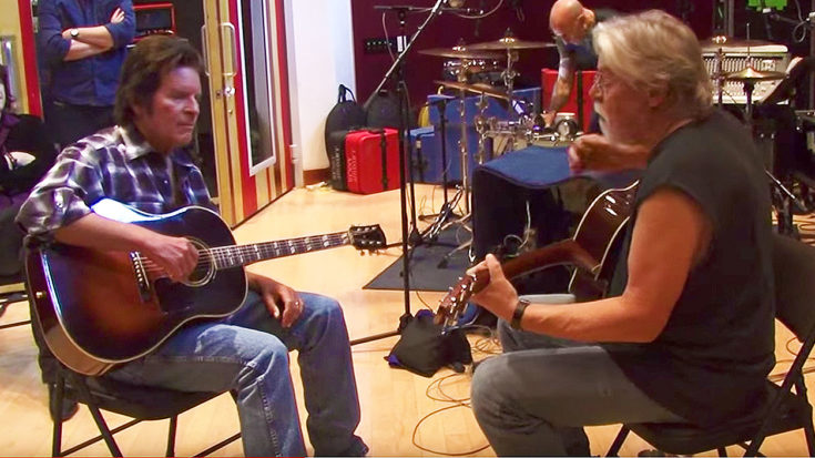 Rare Studio Footage Shows Bob Seger And John Fogerty