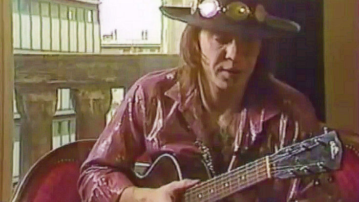 Rare Footage Of Stevie Ray Vaughan Shredding An Acoustic Guitar Emerges, And We Can't Stop Watching | I Love Classic Rock Videos