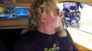 Sammy Hagar Ironically Gets Pulled Over With Jay Leno In The Car…