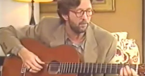 """The Moment Eric Clapton Played """"Tears In Heaven"""" For The Very First Time"""
