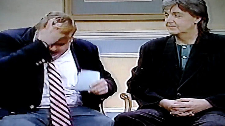 You Will Never Be As Deliciously Awkward As Chris Farley Was That Time He Interviewed Paul McCartney | I Love Classic Rock Videos