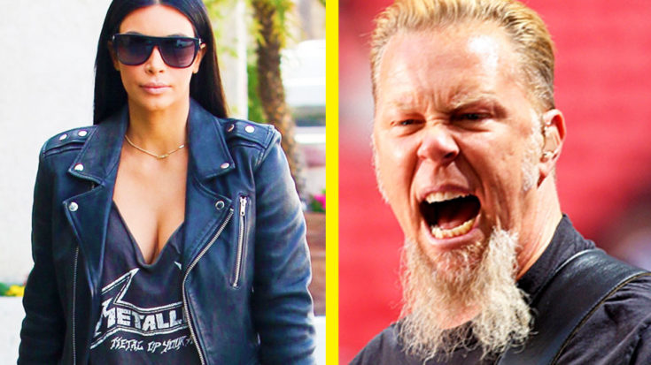 James Hetfield Had Some Harsh Words For Kim Kardashian Wearing A Metallica T-Shirt | I Love Classic Rock Videos