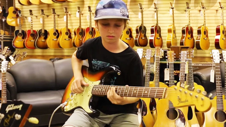 Kid Wanders Into Guitar Shop, Starts To Play, And Leaves Everyone With Their Jaws On The Floor! | I Love Classic Rock Videos