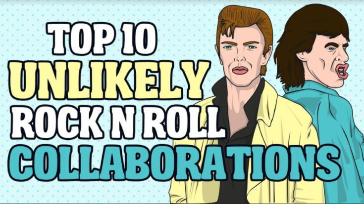 Top 10 Unlikely Rock 'n Roll Collaborations | I Love Classic Rock Videos