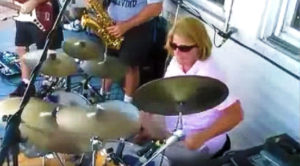 Mom Sits Behind Drum Set, What She Does Next Brings Party To A Screeching Halt