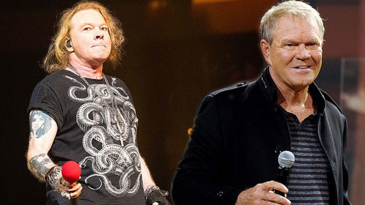 """Guns N' Roses Pay Tribute To Glen Campbell With Moving Performance Of """"Wichita Lineman""""   I Love Classic Rock Videos"""