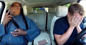 Stevie Wonder Makes James Corden Cry In Overwhelming 'Carpool Karaoke' Installment