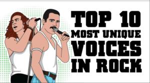 Top 10 Most Unique Voices in Rock