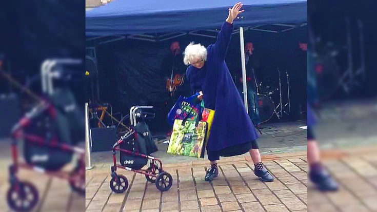 """Granny Hears AC/DC's """"Highway To Hell"""" And Busts Out Some Pretty Sweet Dance Moves 