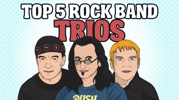 Top 5 Rock Band Trios- 3 Is The Magic Number | I Love Classic Rock Videos