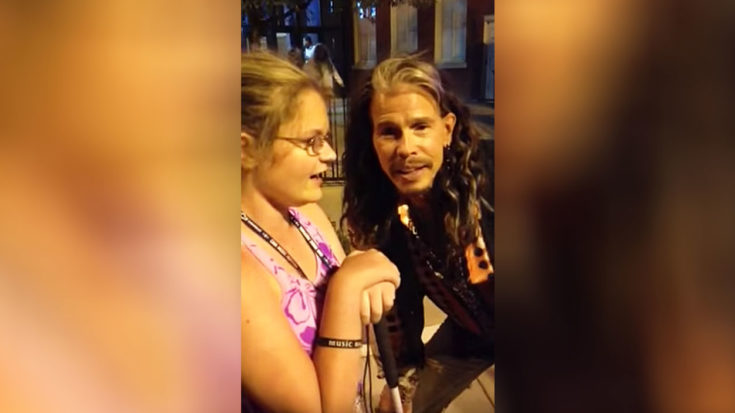 Legally Blind Girl's Dream Comes True When Steven Tyler Finds Her And Sings Impromptu Duet With Her | I Love Classic Rock Videos