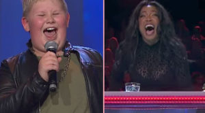 12-Year-Old Boy Sings KISS Classic On Live TV. He Opens His Mouth, And This Judge Loses It Completely