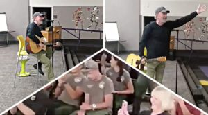 "Neil Diamond Just Surprised A Bunch Of Firefighters With An Unexpected ""Sweet Caroline"" Performance"