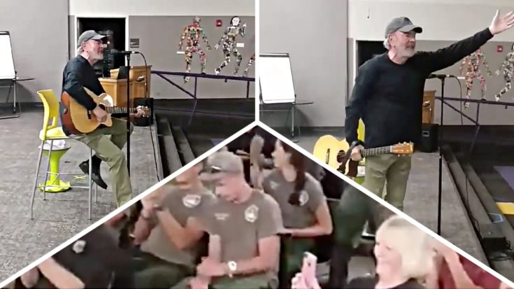 "Neil Diamond Just Surprised A Bunch Of Firefighters With An Unexpected ""Sweet Caroline"" Performance 