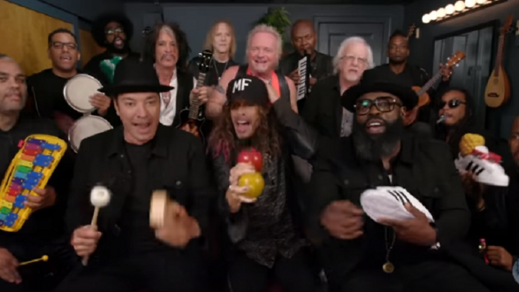"Jimmy Fallon and Steven Tyler – ""Walk This Way"" With The Roots 