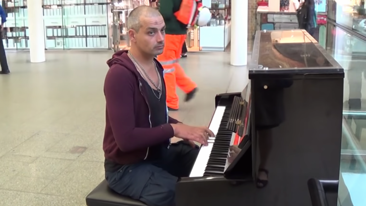 Tough Guy On Piano Is Asked To Play Mary Poppins | I Love Classic Rock Videos