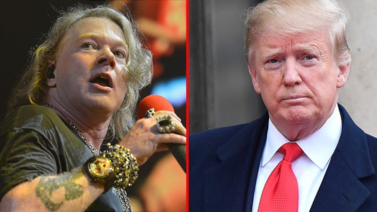 Axl Rose Slams President Trump For His Response To The California Wildfires | I Love Classic Rock Videos