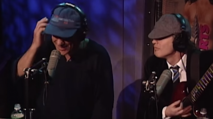 "Howard Stern Hosts AC/DC for Stripped ""You Shook Me All Night Long"" So good! 
