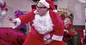 Things Get Awkward (And Hilarious) When Chris Farley's 'Motivational Santa' Comes Crashing Into Town