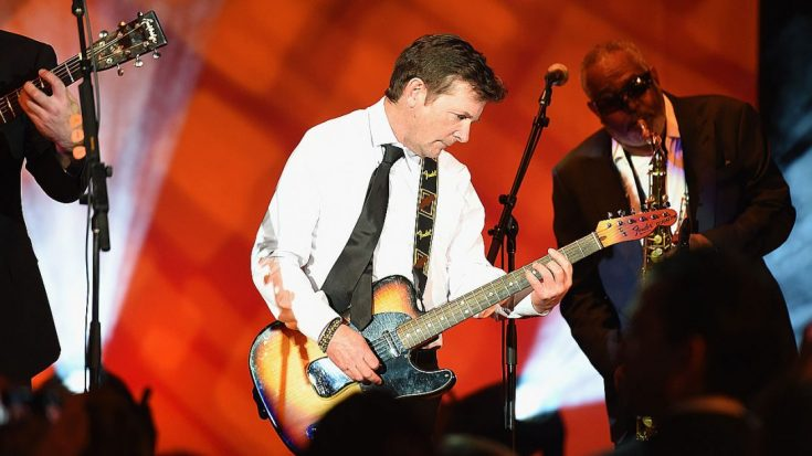 "Michael J. Fox Makes Triumphant Return To The Stage To Perform ""All Along The Watchtower"" 
