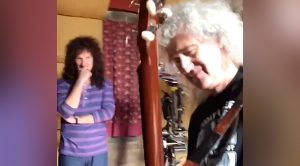 Actor Playing Brian May Gets Guitar Lesson From The Man Himself – Shows Him How It's Done