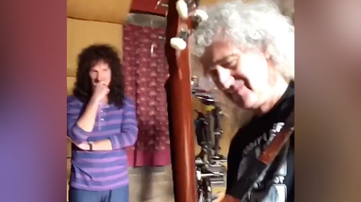 Actor Playing Brian May Gets Guitar Lesson From The Man Himself – Shows Him How It's Done | I Love Classic Rock Videos