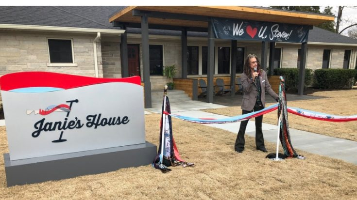 "Steven Tyler Attends ""Scarf-Cutting"" For Emotional Opening of Janie's House- For Abused Girls 